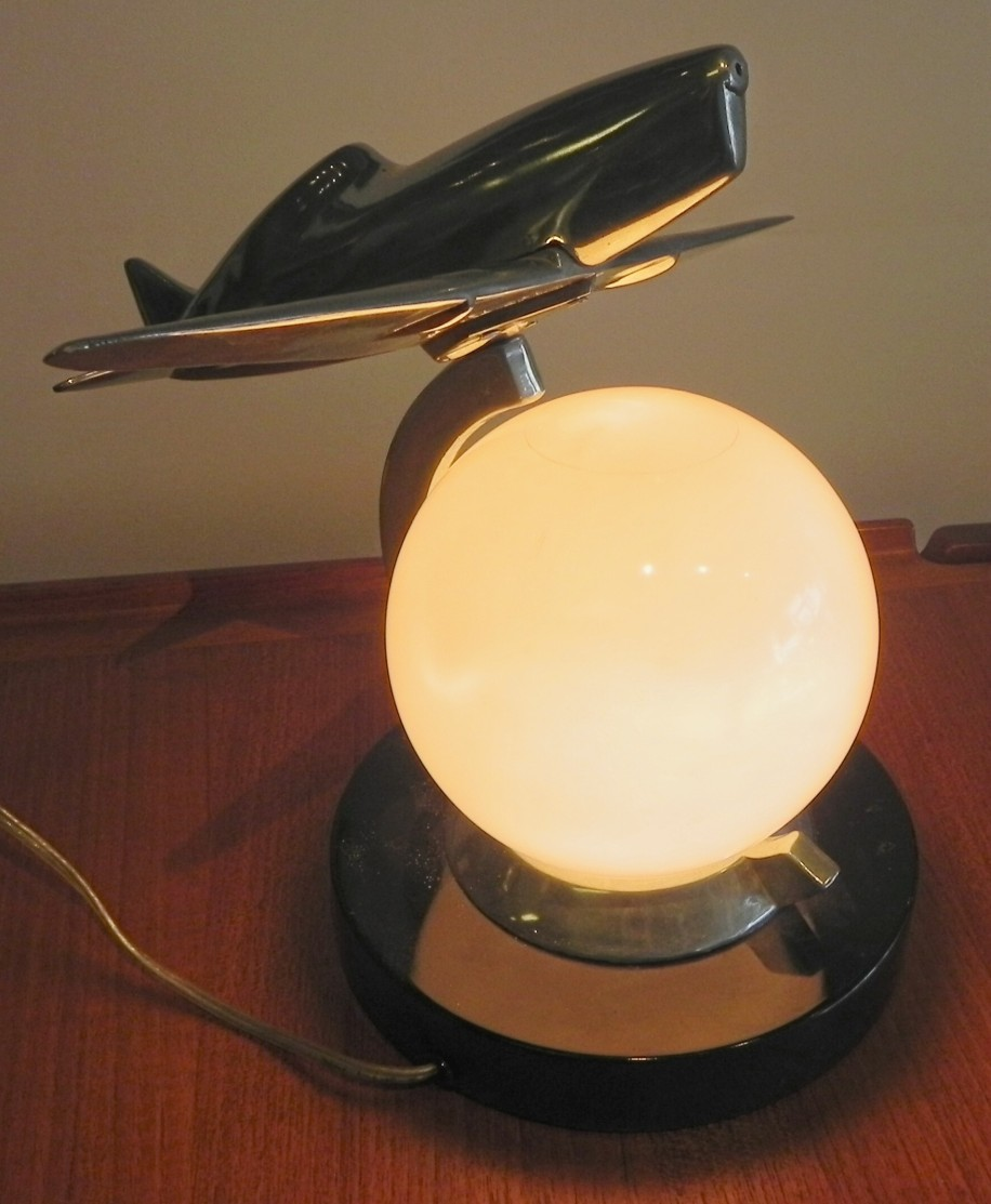 ART DECO AIROPLANE LIGHT
