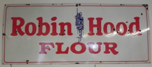 SOLD PORCELAIN ROBIN HOOD SOLD SOLD FLOUR 6 FT BY 30 INCHES
