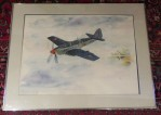 Signed John Carter Watercolor Dated 1987, 29 x 31