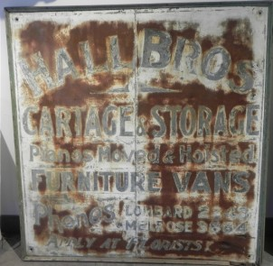 TORONTO TIN ADVERTISING SIGN 5 FT. BY 4 FT. 7 INCHES