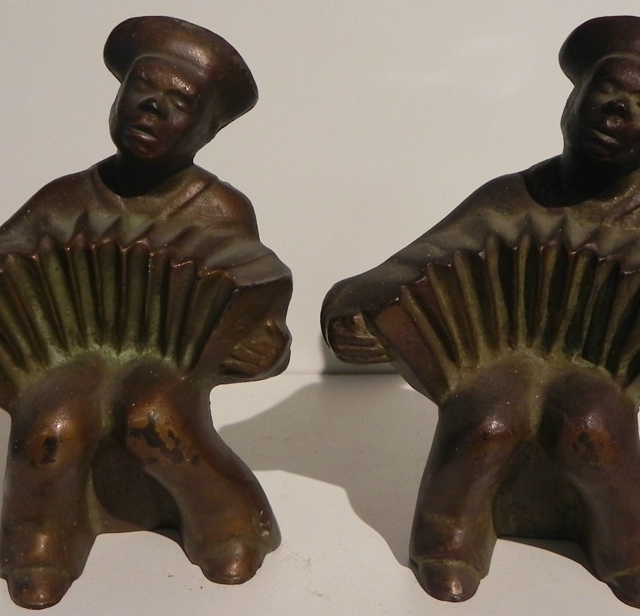 BRONZED CAST IRON BOOKENDS HUBLEY CIRCA 1930
