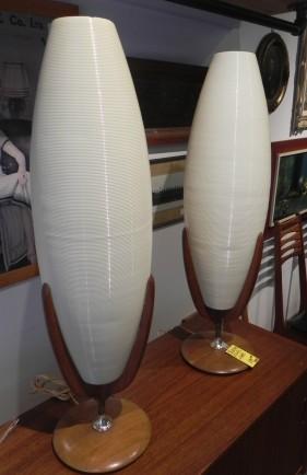 Atomic Teak Table Lamps