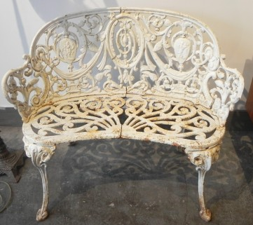 Victorian Cast Iron Garden Bench